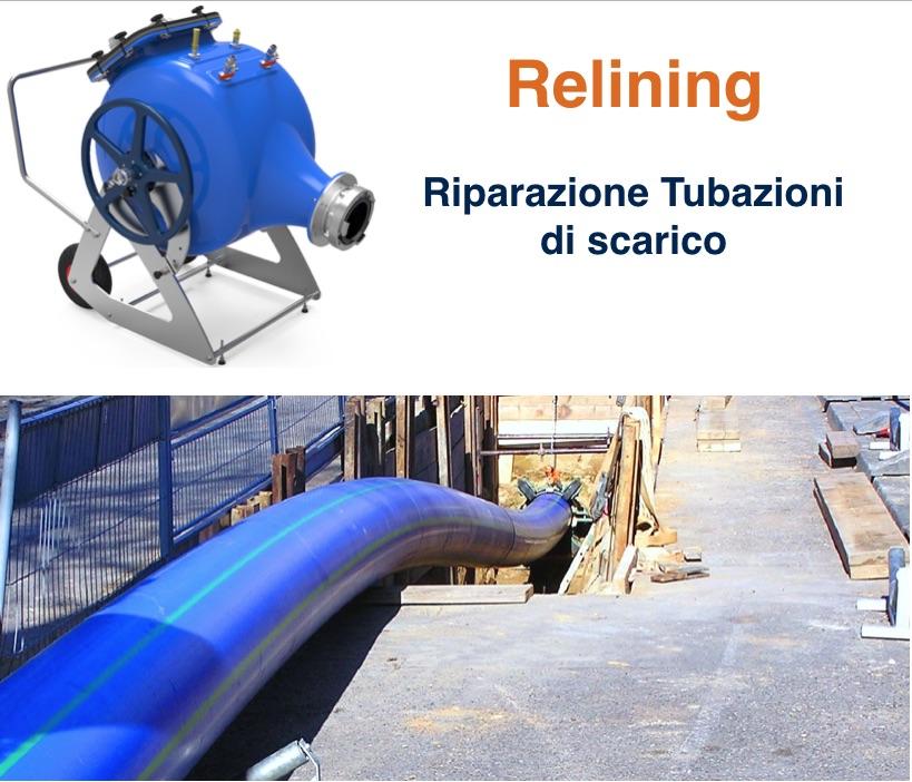 Risanamento Relining Incamiciatura Tubazioni